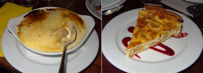 sabayon abricot et tarte mirabelles