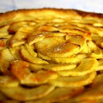 Tarte aux pommes close up